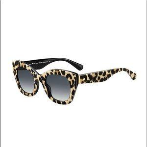 kate spade NY Jalena Leopard-Print Sunglasses